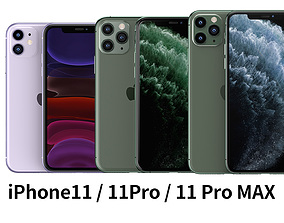 2019 Apple iphone 11 11Pro 11ProMax mobile phone 3D