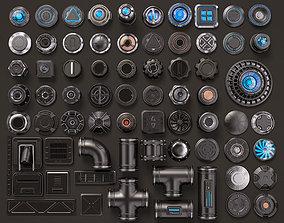 Sci Fi Kitbash 3D