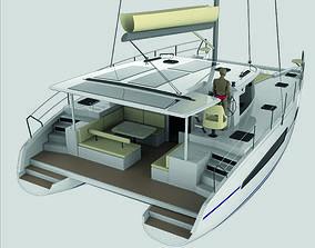 Catamaran Sailing Yacht 3D model