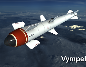 Vympel R60 Missile 3D model game-ready