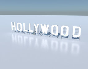 3D Hollywood Sign Low poly realtime