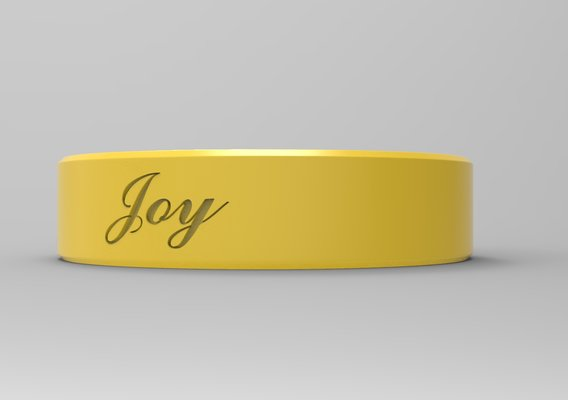 Joy Paint Textured Yellow Material