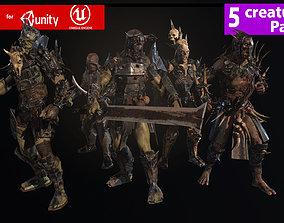 3D asset Orcs pack 1