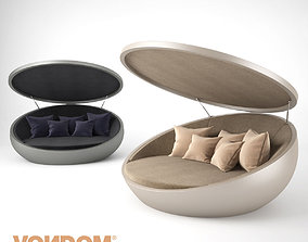 Vondom ULM Daybed with Parasol 3D model