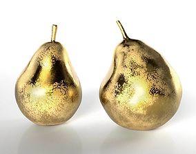 Pair of Golden Pears Decor 3D
