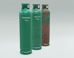 4K Low-Poly PBR Propane Gas Cylinder 33 kg - 3 3D model 1