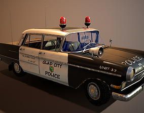 police car stylized 3D model