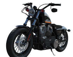 Harley-Davidson Forty Eight Motorcycle drive 3D model