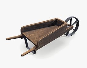 Cartoon Wheel Barrow 3D model