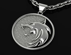 3D print model Witcher Amulet Wolf