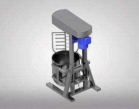 3D model planetary mixer technology