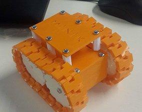 Tracked tank robot 3D printable model