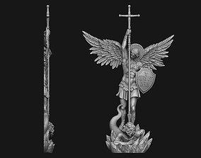 3D printable model Archangel Michael Bas-Relief