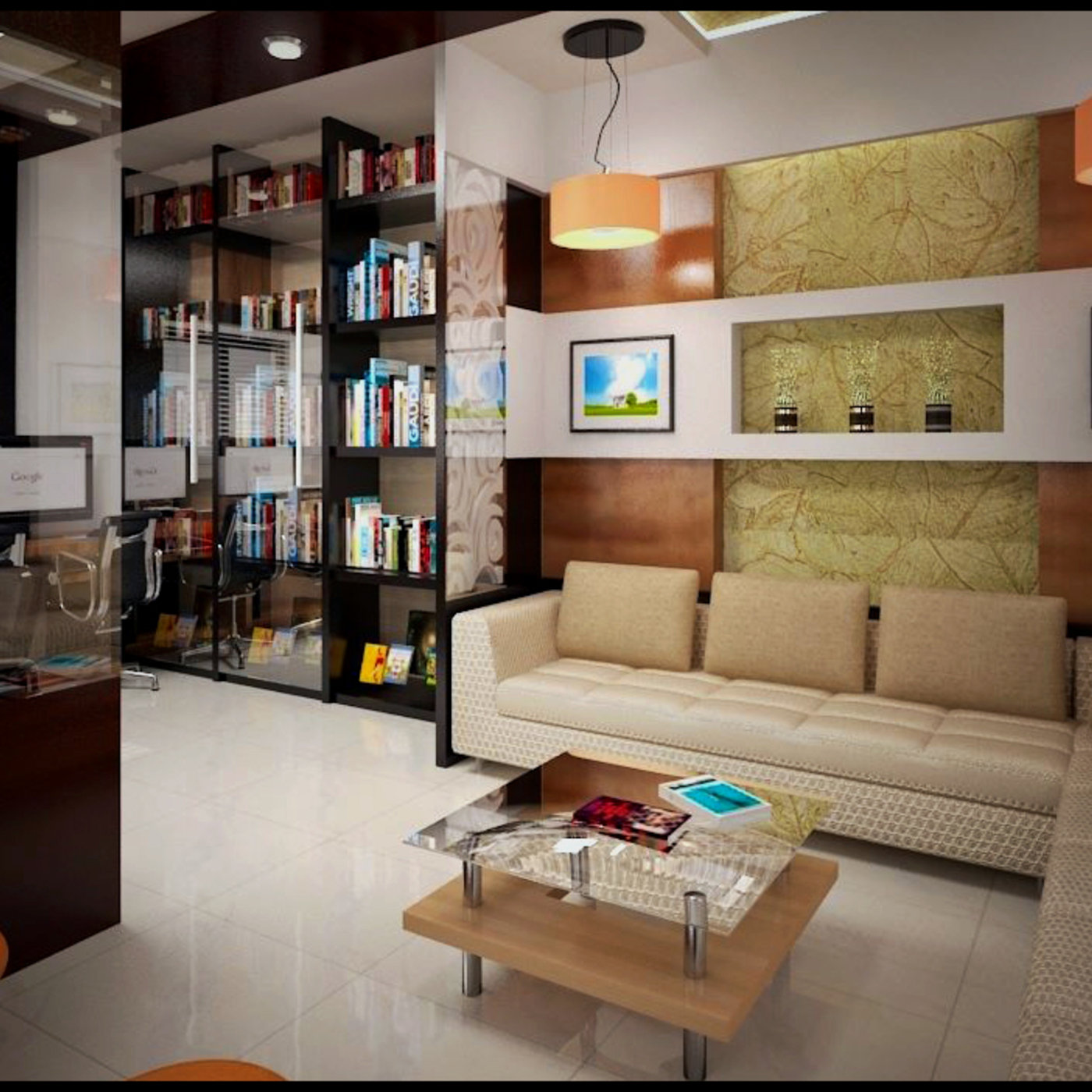 3d Arc Work Office Interior Design Software Used 3ds Max Vray Photoshop Cgtrader