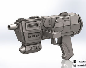 DC-17m blaster pistol Star Wars republic 3D print model