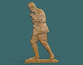 Gazi Mustafa Kemal Ataturk 3d stl model for