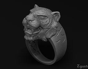 Tiger rings printable 3D print model