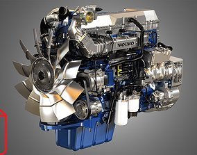 D13 engine - Photo Renders Package 3D model