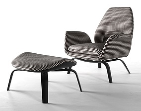 3D model Gilliam Armchair and Footstool