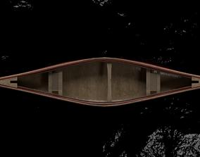Canoe Boar For Game Object VR - AR 3D model
