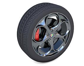 Alfa Romeo Giulia Rim 3D Model realtime