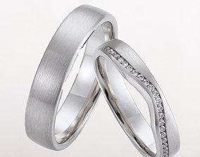 3D print model Wedding rings 230