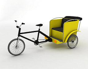 Pedal Bike Rickshaw 3D model