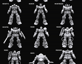 Gundam mobile suit Zeon x Earth Federation 3D model