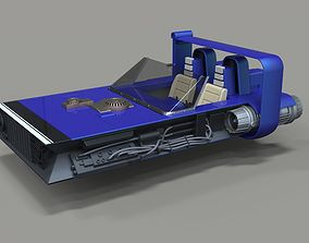 3D M-68 Landspeeder of Han Solo