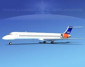 3D McDonnell Douglas MD-87 SAS