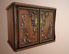Carved Wooden Cabinet 3D model
