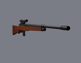 3D model Sniper Rifle M14