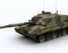 Challenger 2 British Army Tank 3D asset