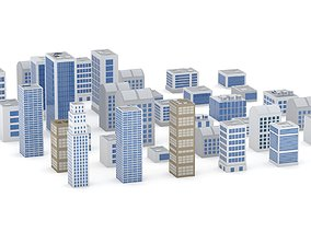 36 Building Blocks Collection 3D model