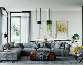 3D model Living room luxury Corona render