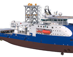 3D Construction and Well Intervention Vessel Island