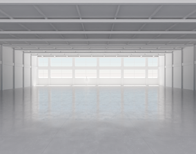 Industrial Hangar Hall Interior 4 3D asset