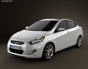 3D Hyundai Accent i25 Sedan 2012