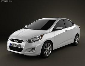 3D Hyundai Accent i25 Sedan 2012