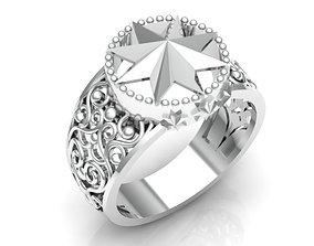 star 3D printable model Male ring