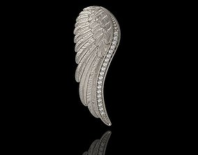 Angel Wing Pendant with Diamonds 3dm stl 3D print