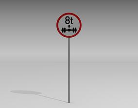 3D 8 Ton on axle sign