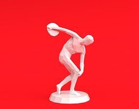 3D printable model Discobolus Low Poly Stylized
