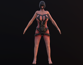 Parasit girl - Second form - Game Ready 3D model