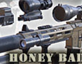 animated 3DRT - AAC Honey Badger PDW assault rifle