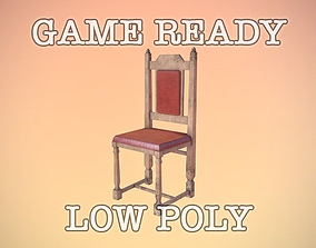 3D Antique Chair low-poly game ready