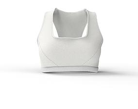 3D model Women Sports Bra Top with UV map