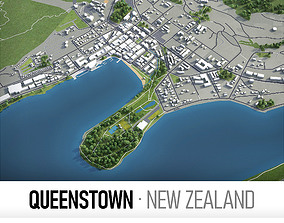 Queenstown - Cromwell - Alexandra - city and 3D asset