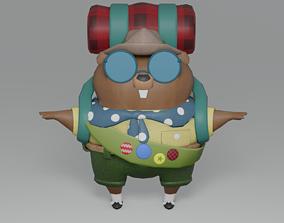 3D model Cartoon Beaver Scout