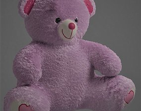 3D Pink Plush Teddy with Fur